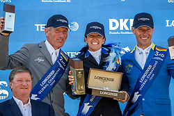 BEERBAUM, Ludger (GER), G. WALDMAN, Dani (ISR), AHLMANN, Christian (GER), Take A Chance On Me Z<br /> Berlin - Global Jumping Berlin 2019<br /> Siegerehrung<br /> CSI5* - LONGINES GLOBAL CHAMPIONS TOUR Grand Prix of Berlin<br /> presented by TENNOR<br /> Wertungsprüfung zur Longines Global Champions Tour 2019 <br /> Springprüfung mit Stechen, international<br /> 27. Juli 2019<br /> © www.sportfotos-lafrentz.de/Stefan Lafrentz