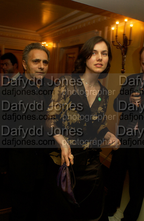 Mr. and Mrs. Hanif Kureishi, 24th London Film Critics Circle Awards in aid of the NSPCC , ( AlFS) the Dorchester, 11 February 2004. © Copyright Photograph by Dafydd Jones 66 Stockwell Park Rd. London SW9 0DA Tel 020 7733 0108 www.dafjones.com