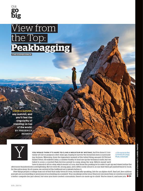 Backpacker: Peakbagging (September 2014)