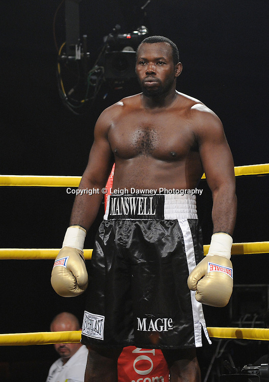 Kerston Manswell pictured before fighting Mike Perez in Quarter Final 1at Prizefighter International on Saturday 7th May 2011. Prizefighter / Matchroom. Photo credit © Leigh Dawney. Alexandra Palace, London.