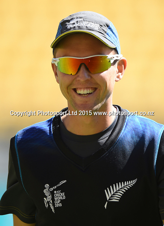 Trent Boult during the ICC Cricket World Cup quarter final match between New Zealand Black Caps and the West Indies, Wellington, New Zealand. Saturday 21March 2015. Copyright Photo: Andrew Cornaga / www.Photosport.co.nz