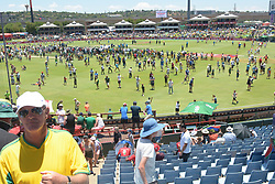 Pretoria 26-12-18. The 1st of three 5 day cricket Tests, South Africa vs Pakistan at SuperSport Park, Centurion. Day 1. Fans on part of the pitch during lunchtime. Picture: Karen Sandison/African News Agency(ANA)