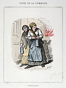 Paris Commune 26 March-28 May 1871.  Commune types: Two Petroleuses, on the women incendiaries who set fires in the city.