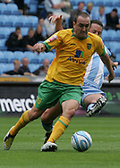 Coventry - Saturday August 9th, 2008: Elliot Omozusi of Norwich City in action against Coventry City during the Coca Cola Championship match at The Ricoh Arena, Coventry. (Pic by Michael Sedgwick/Focus Images)