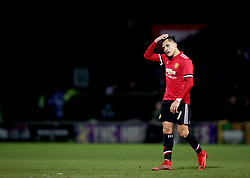 Manchester United's Alexis Sanchez during the Emirates FA Cup, fourth round match at Huish Park, Yeovil.