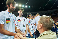 Katowice, Poland - 2017 September 03: (R) Krzysztof Krukowski (Director Organizational Development Europe Eurasia Region Special Olympics) with SO Germany while Awarding Ceremony during European Unified Volleyball Tournament 2017 at Spodek Hall on September 03, 2017 in Katowice, Poland.<br /> <br /> Adam Nurkiewicz declares that he has no rights to the image of people at the photographs of his authorship.<br /> <br /> Picture also available in RAW (NEF) or TIFF format on special request.<br /> <br /> Any editorial, commercial or promotional use requires written permission from the author of image.<br /> <br /> Image can be used in the press when the method of use and the signature does not hurt people on the picture.<br /> <br /> Mandatory credit:<br /> Photo by © Adam Nurkiewicz / Mediasport