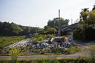 Radioactive materials inside the evacuated zone, Fukushima, Japan