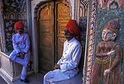 Guards at the City Palace in Jaipur