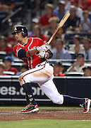 ATLANTA, GA - JUNE 08:  Third baseman Martin Prado #14 of the Atlanta Braves follows through on a swing during the game against the Toronto Blue Jays at Turner Field on June 8, 2012 in Atlanta, Georgia.  (Photo by Mike Zarrilli/Getty Images)