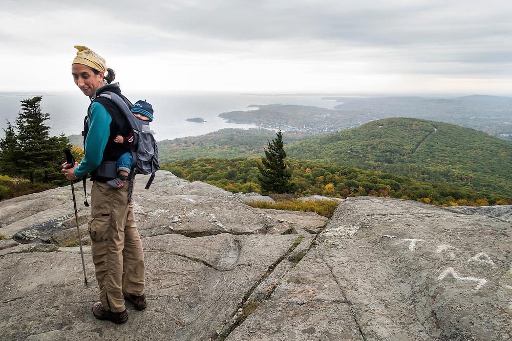 Mount Battie with Julia, Matilda Brigid and Maddox - Camden Hills State Park, Maine.