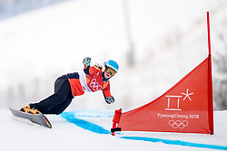 PYEONGCHANG-GUN, SOUTH KOREA - FEBRUARY 24: Michelle Dekker of the Netherlands competes during the Ladies' Parallel Giant Slalom Qualification Run on day fifteen of the PyeongChang 2018 Winter Olympic Games at Phoenix Snow Park on February 24, 2018 in Pyeongchang-gun, South Korea. Photo by Ronald Hoogendoorn / Sportida