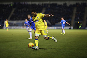 AFC Wimbledon striker Andy Barcham (17) during the EFL Sky Bet League 1 match between Gillingham and AFC Wimbledon at the MEMS Priestfield Stadium, Gillingham, England on 21 February 2017.
