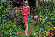 Anneka Rice in her Colour Cutting Garden - The Chelsea Flower Show organised by the Royal Horticultural Society with M&G as its main sponsor for the final year.