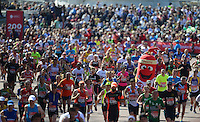 A view down the finish straight<br /> The Virgin Money London Marathon 2014<br /> 13 April 2014<br /> Photo: Javier Garcia/Virgin Money London Marathon<br /> media@london-marathon.co.uk