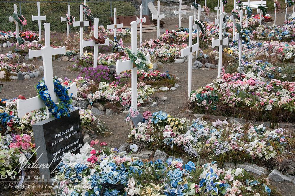 The local cemetery in Qeqertarsuaq, Greenalnd.