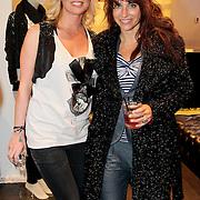 NLD/Amsterdam/20110330 - Launch tshirt lijn B. by Bridget, Bridget Maasland en Ellen ten Damme