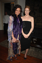 Left to right, CRENA SINDI and SYDNEY FINCH at a dinner hosted by the Italian Ambassador for the Buccellati family held at the Italian Embassy, Grosvenor Square, London on 28th March 2007.<br /><br />NON EXCLUSIVE - WORLD RIGHTS