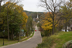 October 2009:  scenic view of downtown Galena Illinois. Sights to see in and around Galena Illinois.