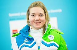 Meta Hrovat during presentation of Slovenian Young Athletes before departure to EYOF (European Youth Olympic Festival) in Vorarlberg and Liechtenstein, on January 21, 2015 in Bled, Slovenia. Photo by Vid Ponikvar / Sportida