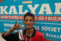 """Did you know Kalyan is Nepali for to do good?"" he asks. I shake my head, no, I didn't. But I could have guessed.  As we talk, Kalyan's peer counsellors come and go, volunteering to scrub floors, to paint walls, to make signs—anything that needs doing for the new drop-in centre. These are men who live by the NA mantra of day by day. Day by day they stay drug free. Day by day they endeavour to do good. Today Dr. Louie is here. Today they have a small amount of funding. ""How can we ask for more than that?"" asks Bhaskar."
