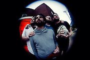 On April 7th, 2012 super talented Austin rockers White Denim added their mark to a week of ridiculously awesome shows at The Firebird in Saint Louis, Missouri. With them were fellow Austinites Hundred Visons and local indie dudes Bo and the Locomotive. Shots of Rumple Minze were consumed, laps around the venue were achieved. [Fisheye]