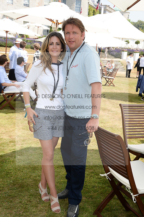 JAMES MARTIN and LOUISE DAVIES at the Cartier 'Style et Luxe' part of the Goodwood Festival of Speed, Goodwood House, West Sussex on 14th July 2013.