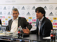 Former German Football Association president Wolfgang Niersbach (pictured left with Germany manager Joachim Low) is facing a two-year ban from all football-related activity.<br /> The independent ethics committee of world governing body Fifa recommended Niersbach be punished for a breach of its ethics code.<br /> In November, the 66-year-old resigned from his role as German FA president over bribery allegations.<br /> Picture by EXPA Pictures/Focus Images Ltd 07814482222<br /> 20/05/2016<br /> ***UK &amp; IRELAND ONLY***<br /> EXPA-EIB-131018-0015.jpg