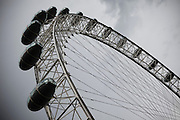 The London Eye wheel beside the River Thames London, England,