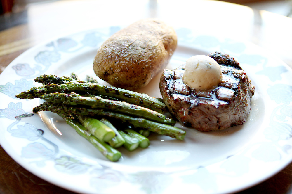 The Filet is an 8-oz hand-cut tenderloin seasoned and charbroiled, served with shallot-garlic steak butter and available at The Winds Steakhouse at Grand Casino Hinckley December 20, 2011.