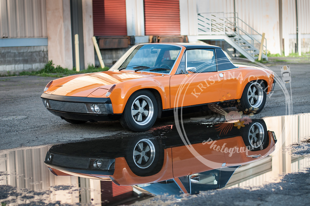 Porsche 914-6 GT Clone in Signal Orange photographed by Kristina Cilia Photography