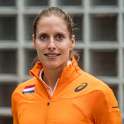 22-03-2017 NED: Teampresentatie EK Atletiek Indoor, Arnhem<br /> Sanne Verstegen tijdens de teampresentatie van het atletiek EK indoor op Papendal.