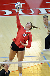 23 September 2017:  Machayla Leonard during a college women's volleyball match between the Salukis of Southern Illinois and the Illinois State Redbirds at Redbird Arena in Normal IL (Photo by Alan Look)