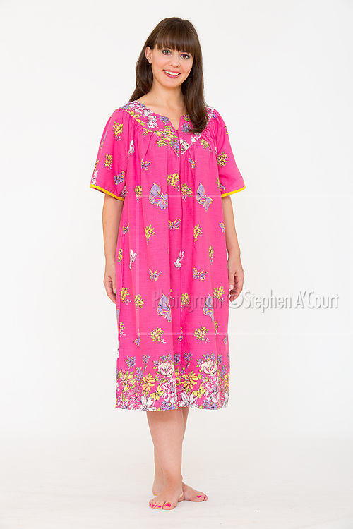 Floral Border Print Sundress Fuchsia.  Photo credit: Stephen A'Court.  COPYRIGHT ©Stephen A'Court