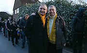Sutton fans queuing before The FA Cup match between Sutton United and Arsenal at Gander Green Lane, Sutton, United Kingdom on 20 February 2017. Photo by Phil Duncan.