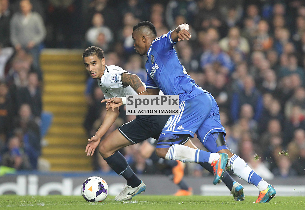 Chelsea's Samuel Eto'o during the English Barclays Premiership match between Chelsea FC and Tottenham Hotspur FC at Stamford Bridge, London, 8th March 2014 © Phil Duncan   SportPix.org.uk