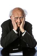Portugal, Funchal, 06/04/13: O soci&oacute;logo e fil&oacute;sofo polaco Zygmunt Bauman, fotografado durante o Festival Liter&aacute;rio da Madeira de 2013 no Funchal.<br /> Foto:Greg&oacute;rio Cunha