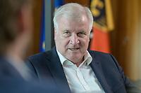 01 JUL 2019, BERLIN/GERMANY:<br /> Horst Seehofer, CSU, Bundesinnenminister, waehrend einem Interview, in seinem Buero, Bundesministerium des Inneren<br /> IMAGE: 20190701-01-011<br /> KEYWORDS: Büro