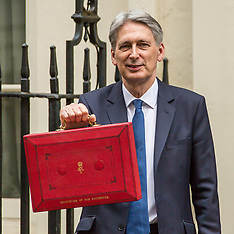 8 Mar 2017 - Philip Hammond in Downing Street on his way to deliver the spring budget.
