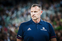 Radovan Trifunovic, head coach of Slovenia during basketball match between Slovenia and Spain in Round #5 of FIBA Basketball World Cup 2019 European Qualifiers, on June 28, 2018 in SRC Stozice, Ljubljana, Slovenia. Photo by Urban Urbanc / Sportida