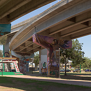 Chicano park is seen on the afternoon of July 02, 2015 in the Barrio Logan neighborhood of San Diego, CA.