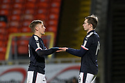Jack Lambert of Dundee and Craig Wighton as the striker returns to action after long term injury - Dundee United v Dundee, SPFL Under 20 Development League at Tannadice Park, Dundee<br /> <br />  - © David Young - www.davidyoungphoto.co.uk - email: davidyoungphoto@gmail.com