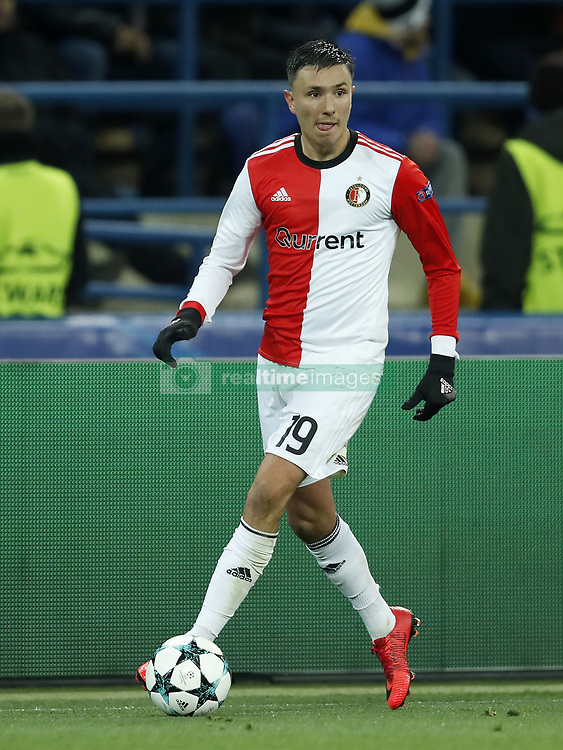 Steven Berghuis of Feyenoord during the UEFA Champions League group F match between Shakhtar Donetsk and Feyenoord Rotterdam at Metalist Stadium on November 01, 2017 in Kharkiv, Ukraine