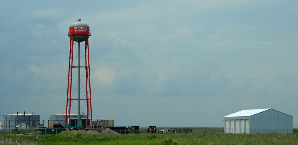 Water Tower, Holly Beach.<br />