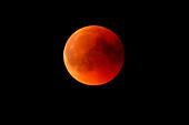 Totale maansverduistering, bloedmaan in Soest