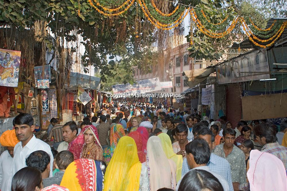 Huge crowds full Pushkar during the annual Camel Fair.Pushkar, India