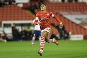 Jacob Brown (7) of Barnsley FC on the attack during the EFL Sky Bet Championship match between Barnsley and Preston North End at Oakwell, Barnsley, England on 21 January 2020.