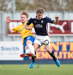 Cowdenbeath's Chris Kane and Falkirk's Will Vaulks. <br /> Falkirk 6 v 0 Cowdenbeath, Scottish Championship game played at The Falkirk Stadium, 25/10/2014.
