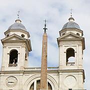 Trinita dei Monte from  Piazza di Spagna, Rome, Italy