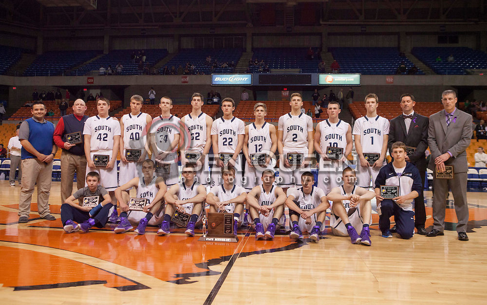 Parkersburg South poses for a picture after losing to Huntington in the AAA title game.