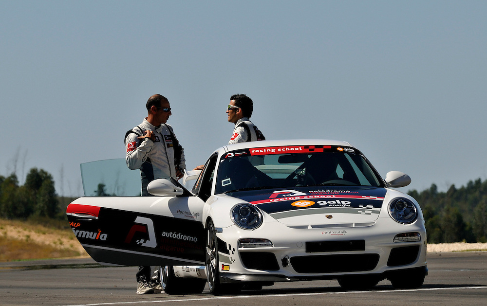 Francesco Bruni driving a Porche GT3 at the Autodromo International Algarve. Photo:Chris Davies/WMRT
